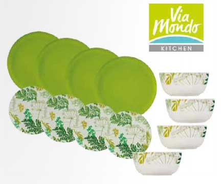 Via Mondo dinner set 12 pieces Bamboo Foja