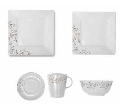 Via Mondo square dinner set 20 pieces Fantasia Liana