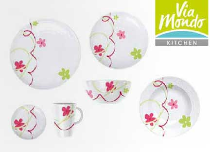 Via Mondo dinner set Fantasia Follia