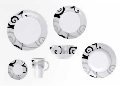 Via Mondo dinner set Fantasia Graphics