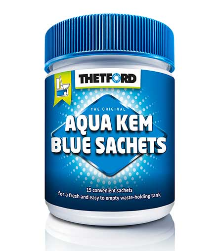 Thetford Aqua Kem Sachets - The dry toilet additive for a clean toilet waste tank