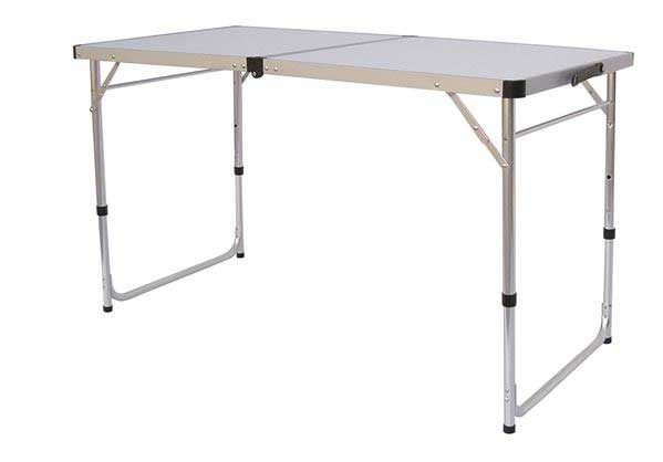 White Aluminium Table 120
