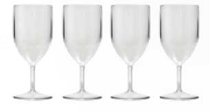 Unbreakable clear Wine glasses